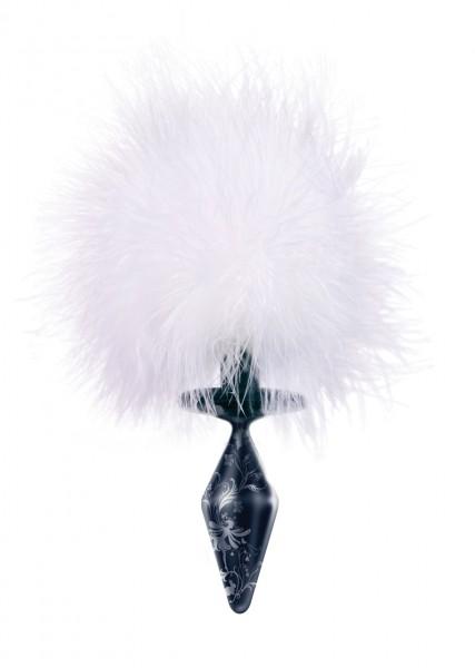 DARK SERIES Glas Plug Bunny Tail small