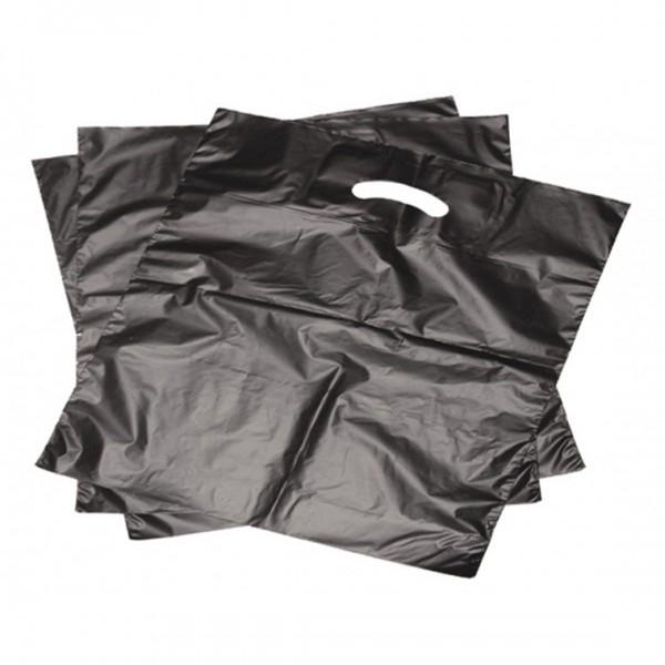 Grifflochflachbeutel 1.000 Stk. 25x35cm schwarz 16mµ